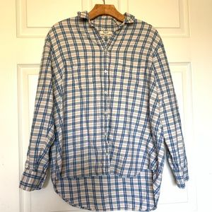Madewell plaid button up top
